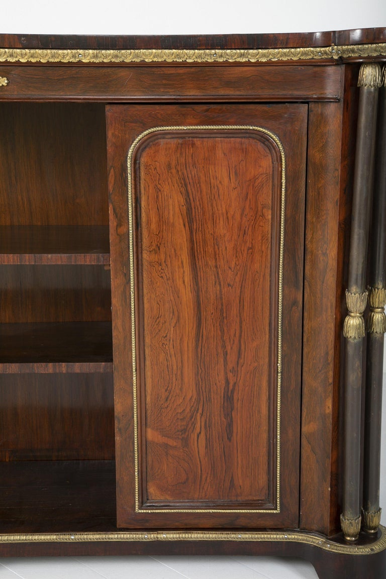 Regency Rosewood Credenza In Good Condition In Port Chester, NY