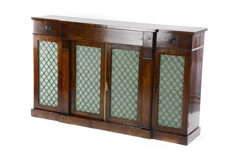 19th Century Regency Rosewood Credenza For Sale