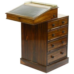 Regency Rosewood Davenport Stamped Hindley & Son Late Miles and Edwards