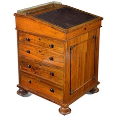 Regency Rosewood Davenport with a Sliding Top in the Manner of Gillows