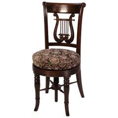 Regency Rosewood Desk Chair/Piano Stool