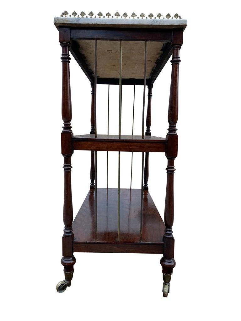 19th Century Regency Rosewood Étagère For Sale