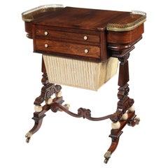 Regency Rosewood Games/Sewing Table