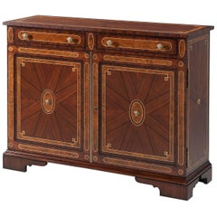 Regency Rosewood Inlaid Side Cabinet