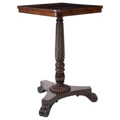 Regency Rosewood Occasional Table on Twist Column Attributed to Gillows