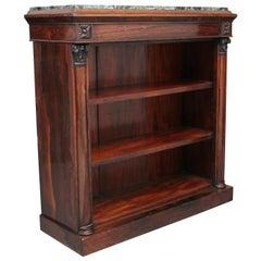 Regency Rosewood Open Bookcase