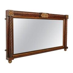 Regency Rosewood Over Mantel Mirror, 19th Century