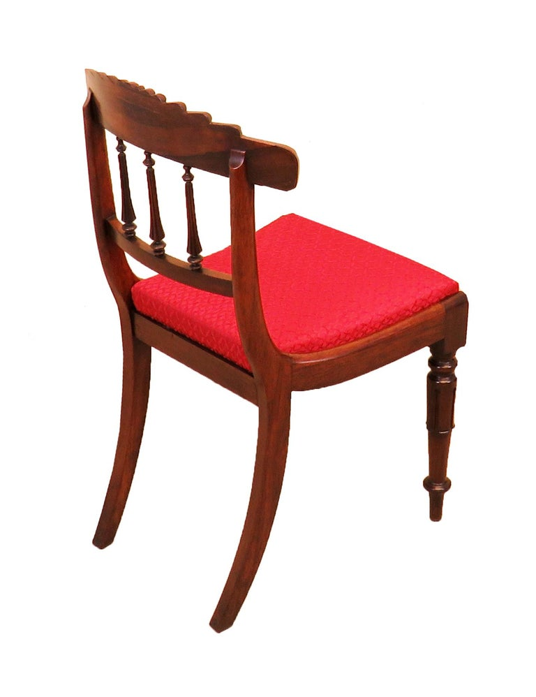 19th Century Regency Rosewood Set of Six Antique Dining Chairs