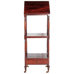 Regency Rosewood Three-Tier Rosewood Music Stand/Whatnot