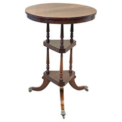 Regency Rosewood Three Tier Wine Table