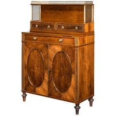 Regency Rosewood Two-Door Side Cabinet, Attributed to John Mclean