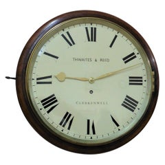 Regency Round Dial Wall Clock by Thwaites and Reed, London