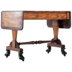 Regency Satinwood and Rosewood Sofa Table