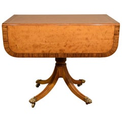 Regency Satinwood Pembroke Table