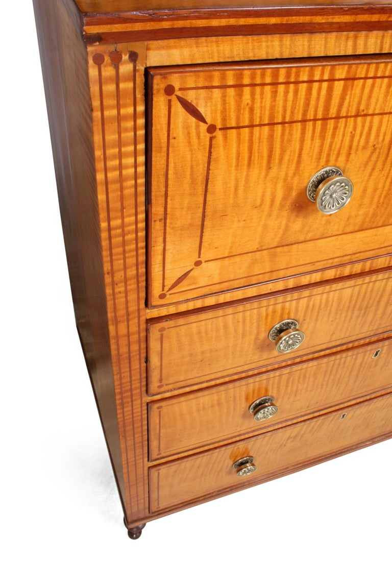 Regency Satinwood Secretaire Bookcase, circa 1815 For Sale 6
