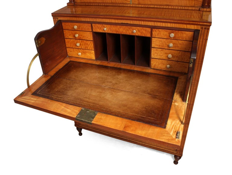 Regency Satinwood Secretaire Bookcase, circa 1815 For Sale 2