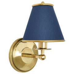 Regency Sconce by Billy Cotton in Brass with Navy Shade