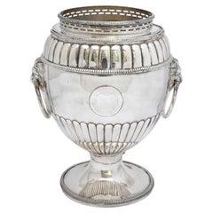 Regency Sheffield Plated Pedestal-Based Wine Cooler