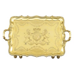Regency Silver Gilt Tray by Rundell and Jackson