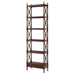 Regency Six Tier Etagere Bookcase