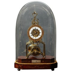 Regency Skeleton Clock by William Carter, Tooley St, London
