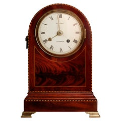Regency Small Mahogany Cased Fusee Bracket Clock by William Wyatt, Liverpool
