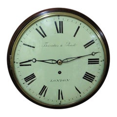 Regency Small Mahogany English Dial Clock by Thwaites and Reed, London