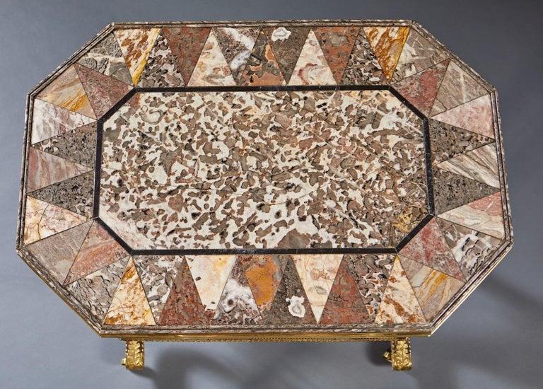 Woodwork Regency Specimen Marble Top Table For Sale