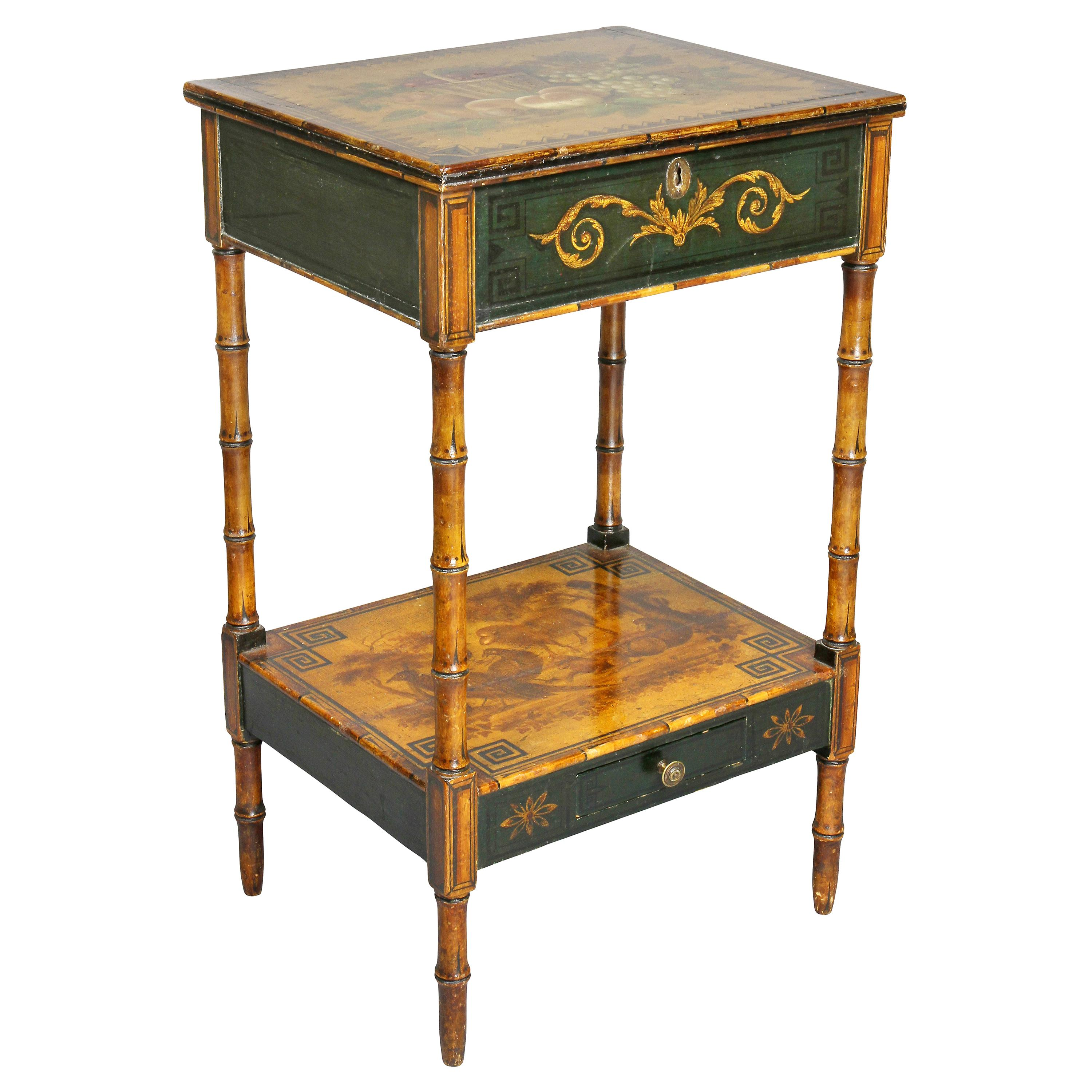 Regency Stencilled and Painted Side Table