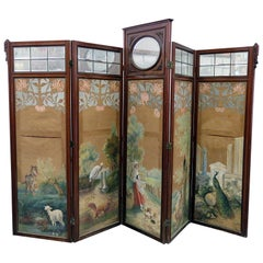Aesthetic Victorian 4-Panel Screen