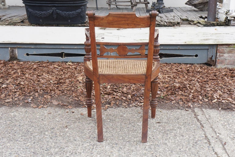 20th Century Set of Ten Regency Style Anglo-Indian Chairs For Sale