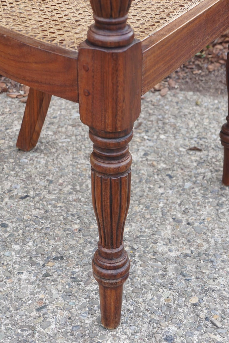 Set of Ten Regency Style Anglo-Indian Chairs For Sale 1