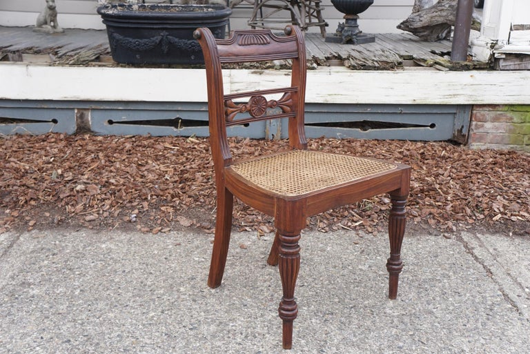 Set of Ten Regency Style Anglo-Indian Chairs For Sale 3
