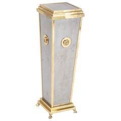 Regency Style Brass and Steel Pedestal