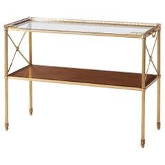 Regency Style Brass Console Table