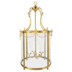 Regency Style Brass Hall Lantern