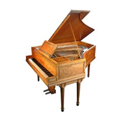 Regency Style, Broadwood Grand Piano with an Inlaid Satinwood Case