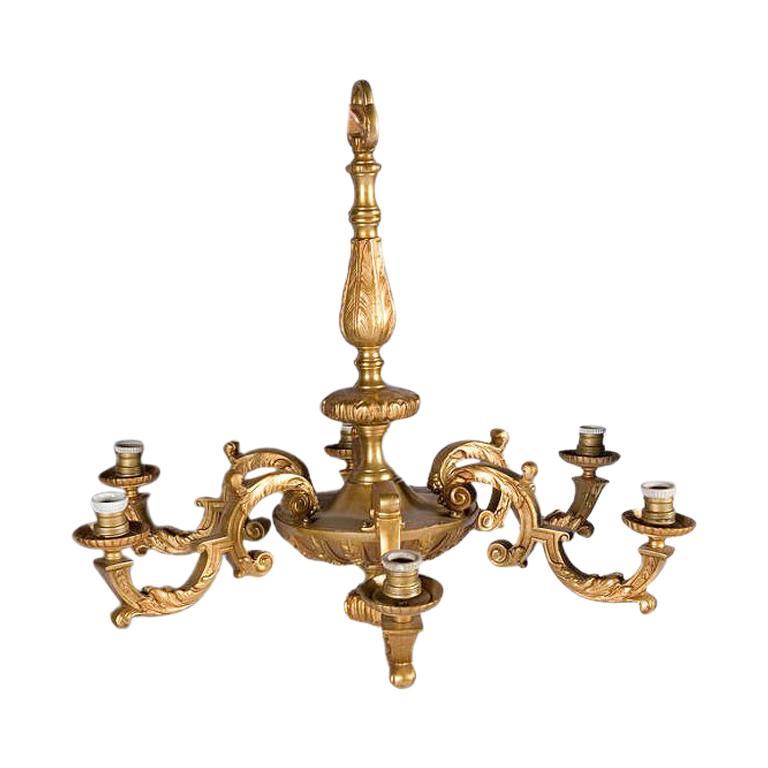 Regency Style Bronze Chandelier For Sale