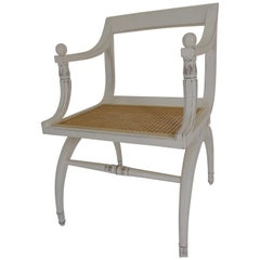 Regency Style Cane Seat Chair