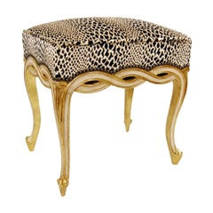 Regency Style Designer Taboret Bench by Randy Esada