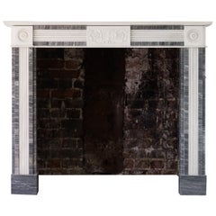Regency Style Dove Grey and Statuary Marble Fireplace