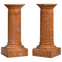 Regency Style Faux Marble Columns