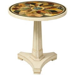 Regency Style Faux Specimen Marble-Top Center Table