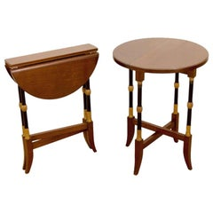 Regency-Style Folding Occasional Tables from the Fontainebleau