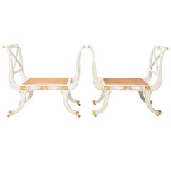 Regency Style Gilded Benches