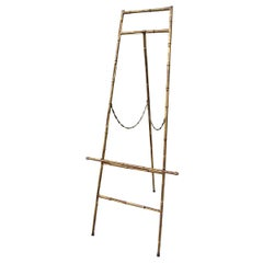 Regency Style Gilded Metal Faux Bamboo Easel, circa 1960s