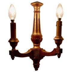 Regency Style Gilt Wood Carved TwinWall Light