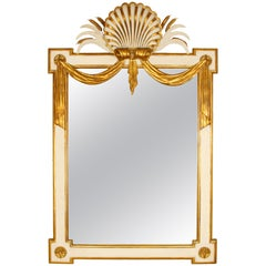 Regency Style Giltwood and Painted Wood Mirror
