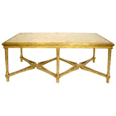Regency Style Giltwood Designer Marbella Coffee Table by Randy Esada
