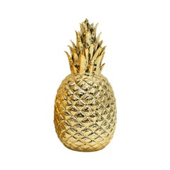 Regency Style Golden Pineapple Decorative Porcelain